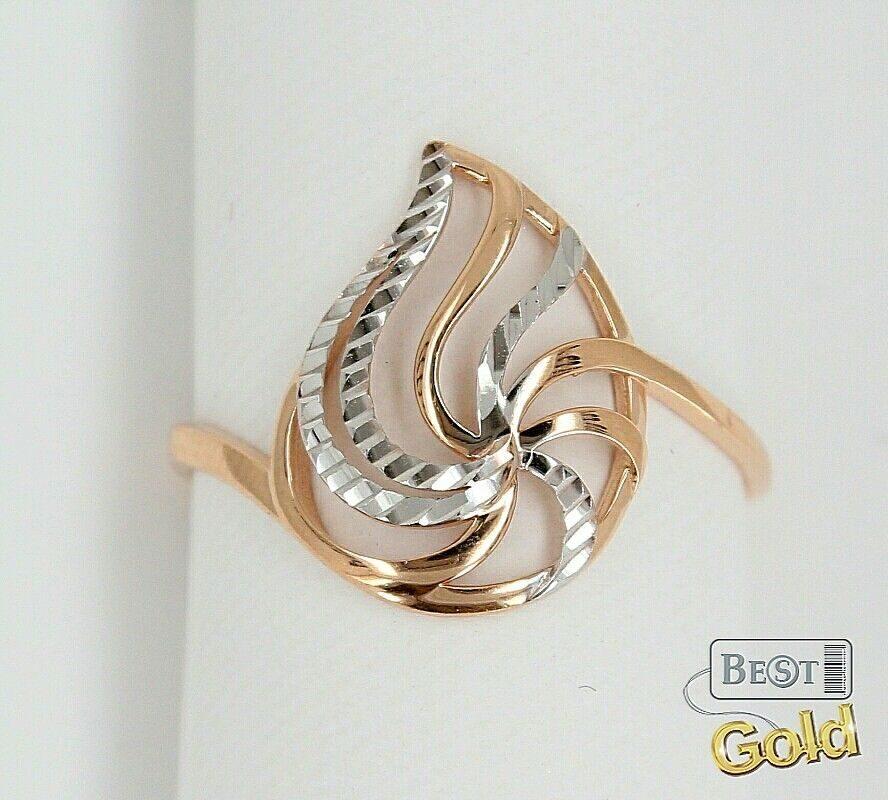 Золотые кольца с ажурным рисунком